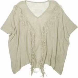 Billabong fringe poncho like sweater top 🔥